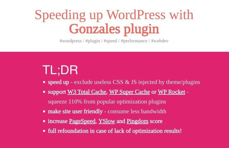 Plugin Gonzales pour WordPress