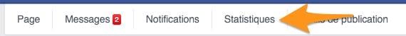 Les statistiques Facebook